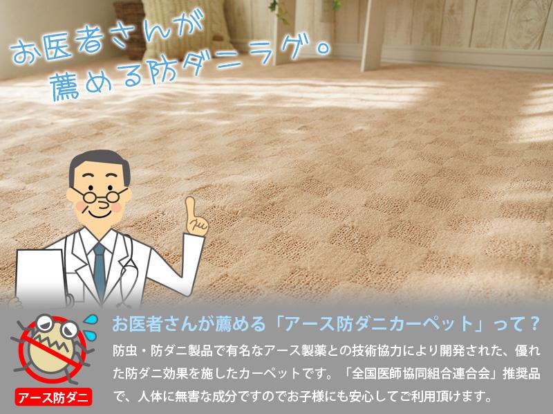 日本製の安心・安全防ダニカーペット カリーナ