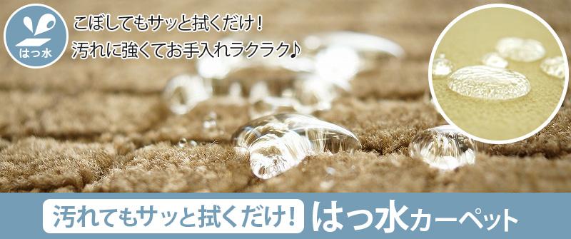 水を弾いて水生の汚れもさっとひと拭き。はっ水カーペット