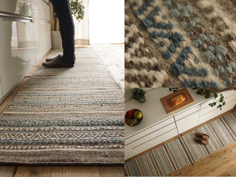 ウール 羊毛 キリム 手織り ハンドメイド